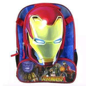 NEW Marvel Averagers Kids Iron Man Backpack Ser